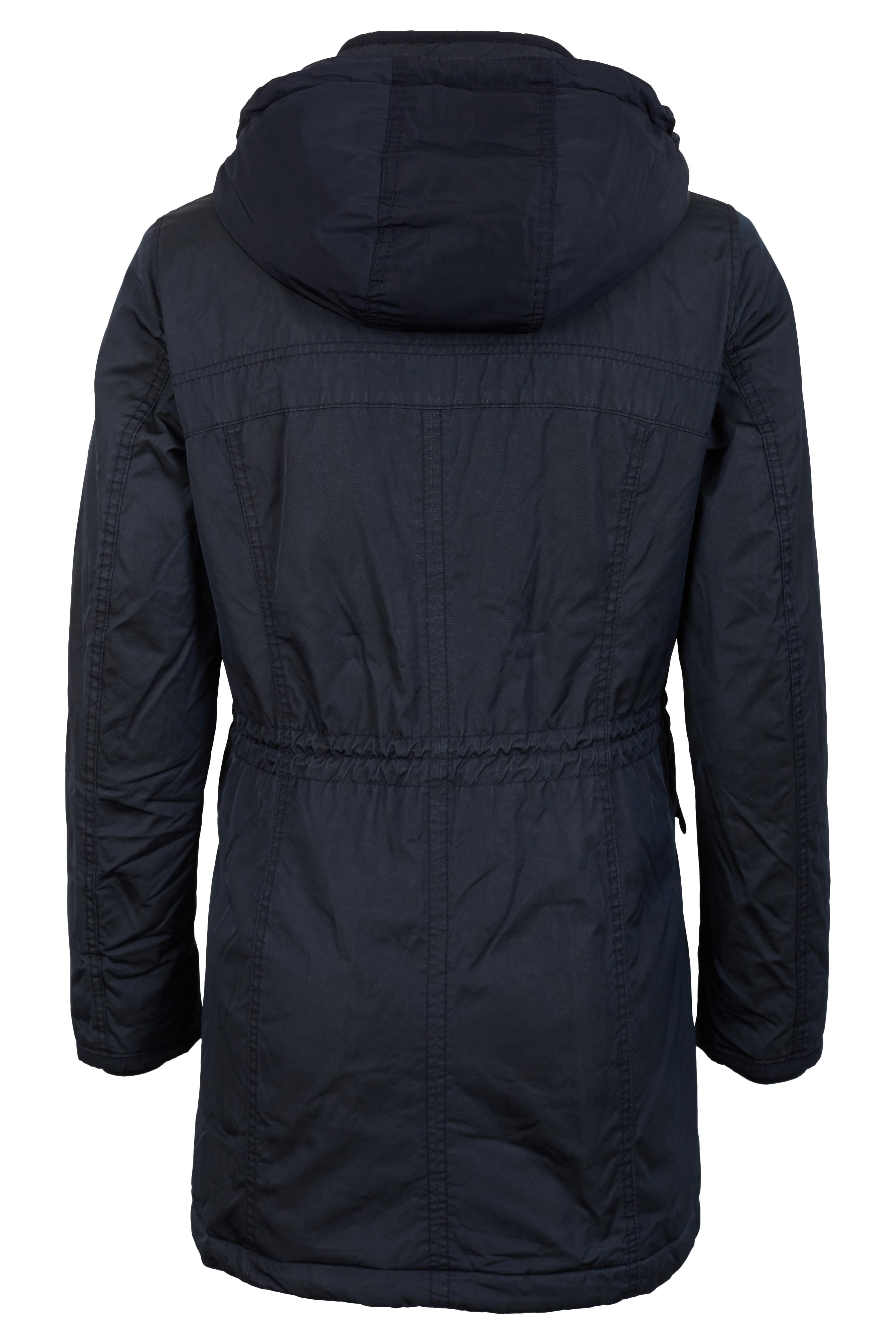 camel active damen mantel mit abtrennbarer kapuze blau. Black Bedroom Furniture Sets. Home Design Ideas