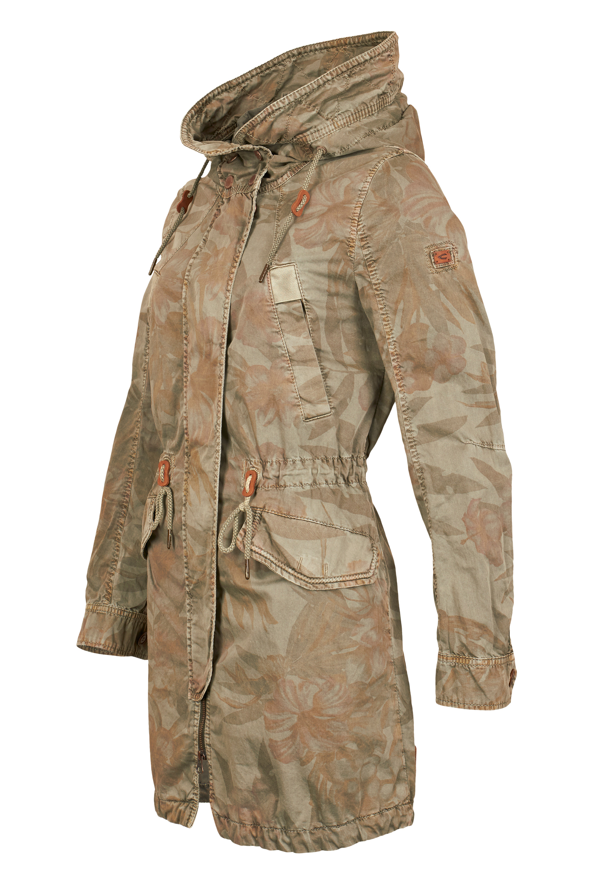 camel active damen parka oversize mantel neu ebay. Black Bedroom Furniture Sets. Home Design Ideas